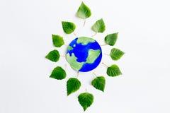 有地球的叶子 库存图片