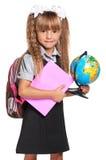 有地球的小女孩 图库摄影