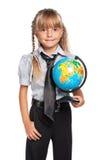 有地球的小女孩 库存图片