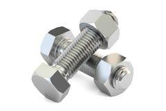 有坚果的, 3D螺栓翻译 向量例证