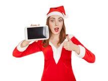 有垫的妇女 圣诞节购物 库存照片