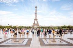 有埃佛尔铁塔的Trocadero地方在巴黎 库存图片