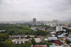 有城市的概略的看法 免版税库存照片