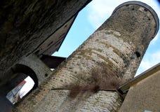 有城楼的城市墙壁从早中古 库存照片