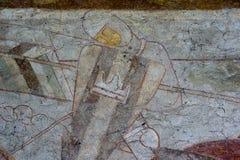 有基督冠的救世主他的盾的 库存照片