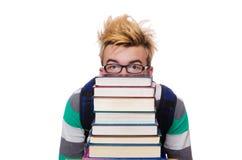 有堆的滑稽的学生 免版税库存照片