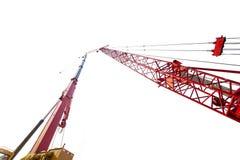 有塔吊的移动式起重机在演播室 库存照片