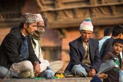 有塔的老Durbar广场 尼泊尔大城市 库存图片