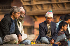 有塔的老Durbar广场 尼泊尔,它的文化中心大城市 库存照片