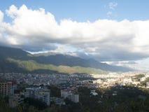 有塞罗的El阿维拉加拉加斯市在背景中 库存图片