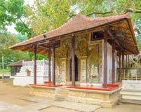 有壁画的寺庙 免版税图库摄影
