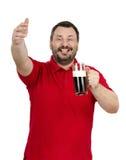 有壮健杯子的告诉的人在手中朋友 免版税图库摄影