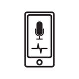 有声音助理的智能手机 免版税库存照片