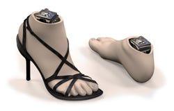 有壳的脚脚腕假肢 向量例证