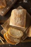 有壳的自创Ciabatta面包 库存照片