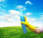 有夏天草的防臭剂 库存图片