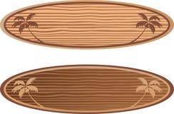 有夏威夷概念的木水橇板 库存照片
