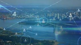 有外形网络的城市  股票录像