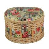 有多彩多姿的螺纹和工具的装饰的箱子为刺绣 图库摄影
