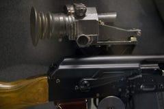 有夜视的苏联军用自动步枪-俄国武器 免版税库存图片