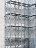 有大厦的,钢建筑脚手架 库存照片