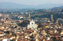 有大教堂二的Santa Croce佛罗伦萨 免版税库存图片