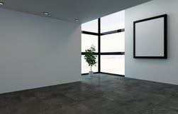 有大框架和窗口的空的室 皇族释放例证