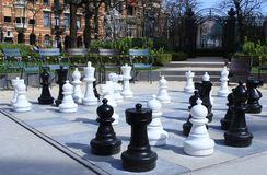 有大棋形象的公园 免版税库存图片