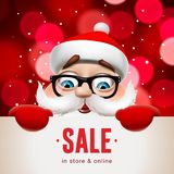 有大牌的圣诞老人 圣诞节销售书信设计,传染媒介例证 向量例证