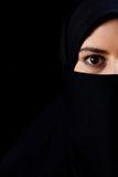 有大眼睛的穆斯林 免版税库存照片