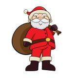 有大袋的圣诞老人 免版税库存照片