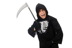 有大镰刀的可怕妖怪 库存照片