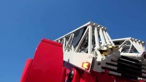 有大防火梯楼梯的消防车 股票录像