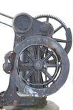 有大齿轮的铸铁手轮 库存图片