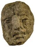 有大鼻子的雕象头 免版税图库摄影