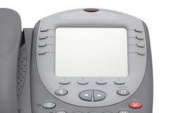 有大LCD屏幕的现代办公系统电话 免版税图库摄影