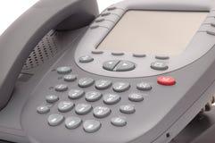 有大LCD屏幕的现代办公系统电话 免版税库存照片