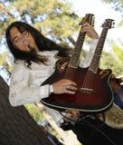 有天才的吉他弹奏者 图库摄影
