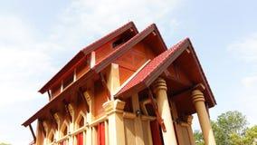 有天空的寺庙 免版税库存照片