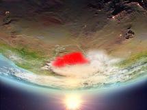 有太阳的布基纳法索 库存照片