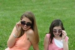 有太阳镜的女孩 库存照片