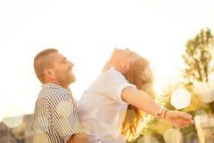 有夫妇的乐趣 免版税库存图片