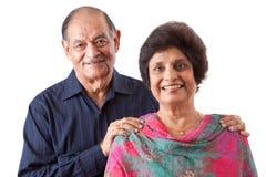 有她的丈夫的东印度人年长妇女 图库摄影