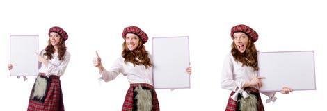 有委员会的苏格兰妇女白色的 库存图片