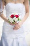 有婚礼花束的新娘 库存照片