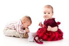 有婴孩的乐趣 免版税库存照片