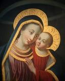 有子项的耶稣Madonna 免版税库存照片