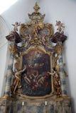 有子项的耶稣Madonna 库存图片