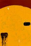 有孔的黄色织地不很细墙壁 库存图片