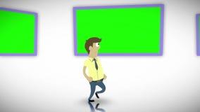 有字符的色度关键屏幕 皇族释放例证